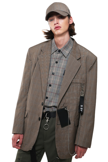 utility chain blazer check brown [sold out]