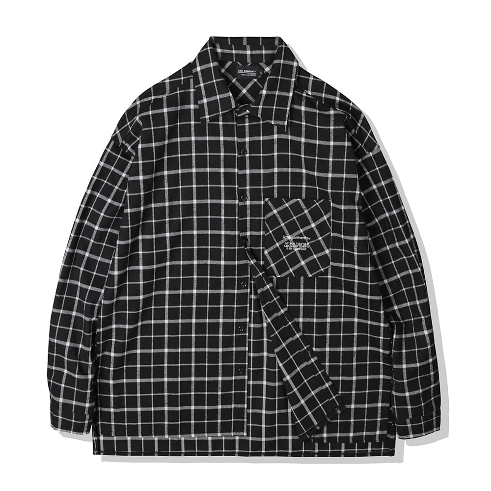 BLACK WINDOW PANE PLAID SHIRTS