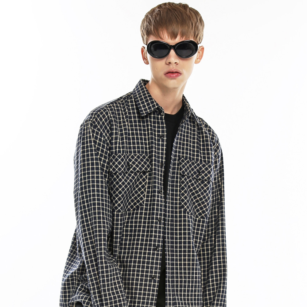 LOOSE FIT CROSS CHECK SHIRT-K NV