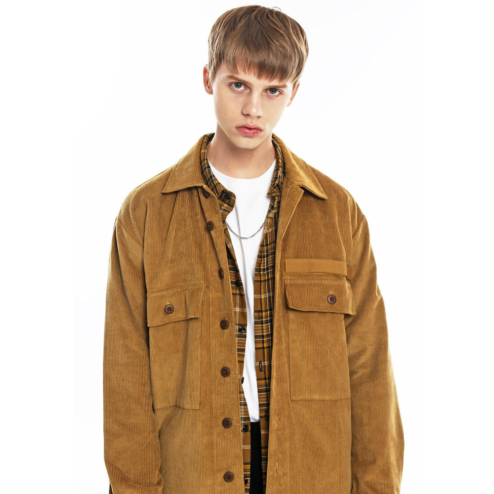 CORDUROY MILITARY SHIRT JACKET-K CM